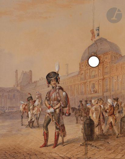 École FRANÇAISE du XIXe siècle Officier des...