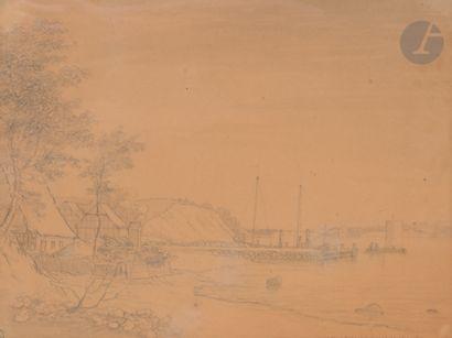 Fabritius de TENGNAGEL (1781 - 1849) Paysage...