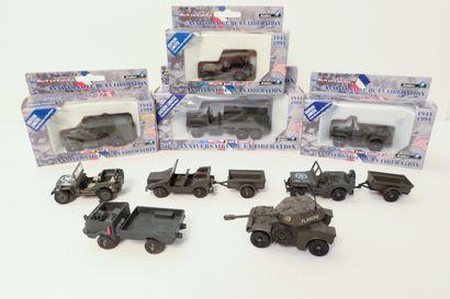 SOLIDO Ensemble de 9 véhicules militaires...