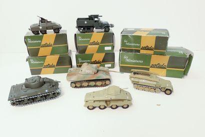 SOLIDO  Ensemble de 6 véhicules militaires...
