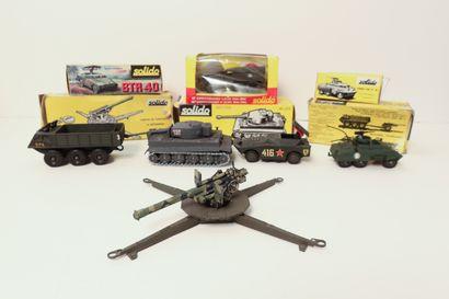 SOLIDO  Ensemble de 6 véhicules et engins...