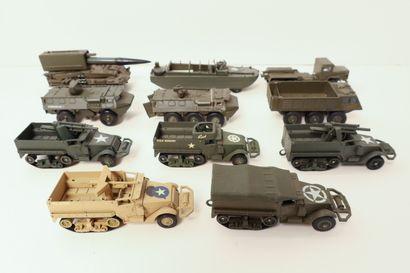 SOLIDO Ensemble de 11 véhicules militaires...