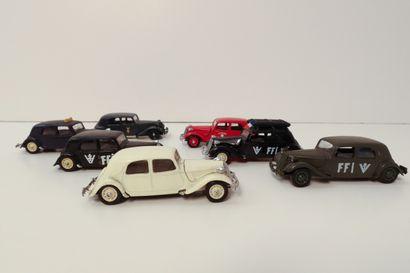SOLIDO  Ensemble de 7 Citroën 15, ref. 14032...