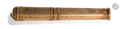 PARIS 1798 - 1809 Étui à cire en or (18 Kt)...