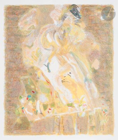 Shafic ABBOUD (Liban-France, 1926-2004) Portrait...