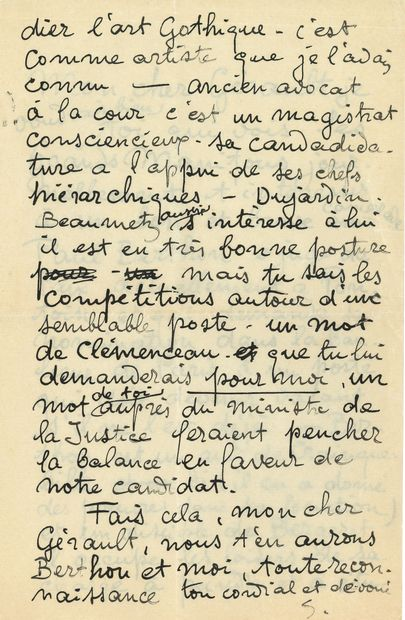 Théophile Alexandre STEINLEN. L.A.S. «S.»,...