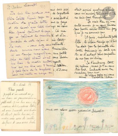 Théophile Alexandre STEINLEN. 2 L.A.S., Paris...