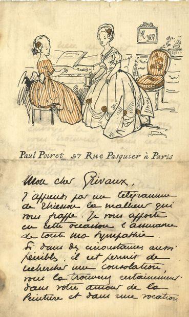 Paul POIRET (1879-1944) couturier. L.A.S.,...