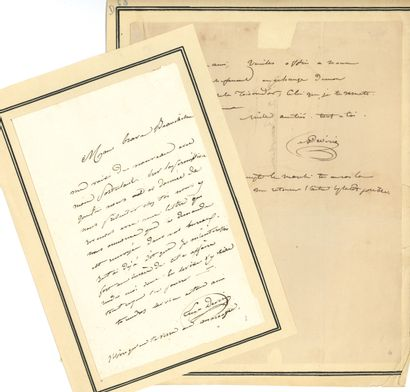 Achille DEVÉRIA (1800-1857). L.A.S., [1827?],...