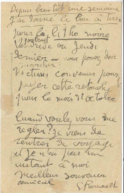 Georges ROUAULT (1871-1958). L.A.S., [Paris...