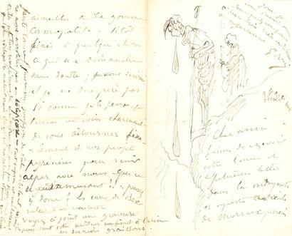 Gustave DORÉ (1832-1883). L.A.S. avec dessin,...