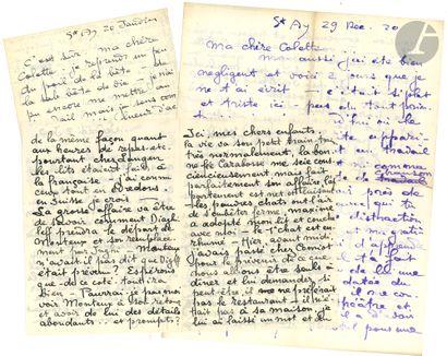 Théophile Alexandre STEINLEN. 5 L.A.S., 1920...