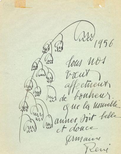 Germaine RICHIER (1902-1959). 2 L.A.S. dont...
