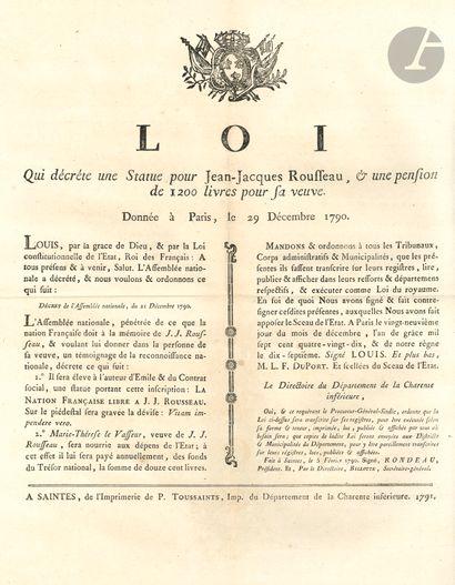 ARTS. 20 affiches imprimées, 1790-1794;...