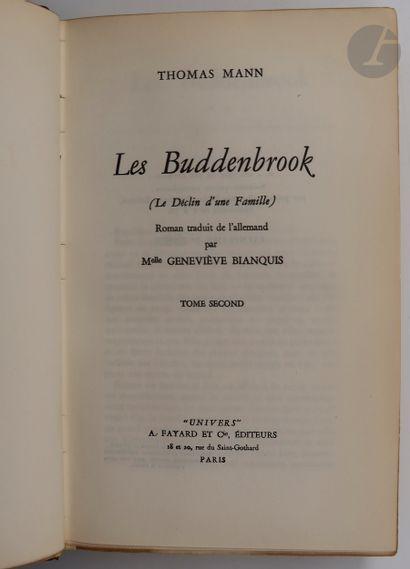 MANN (Thomas). Les Buddenbrook (Le Déclin...