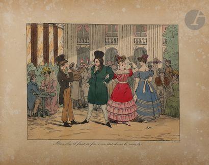 BOUCHOT (Frédéric) - [MONNIER (Henry)]. Recueil de caricatures. [Paris : Bernard,...