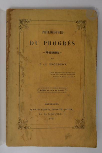 PROUDHON (Pierre-Joseph). Philosophie du...