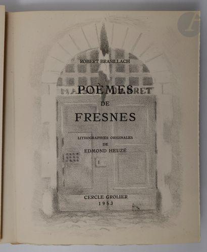 BRASILLACH (Robert) - HEUZÉ (Edmond).. Poèmes...