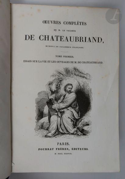 CHATEAUBRIAND (François-Auguste de). Œuvres complètes de M. le vicomte de Chateaubriand,...
