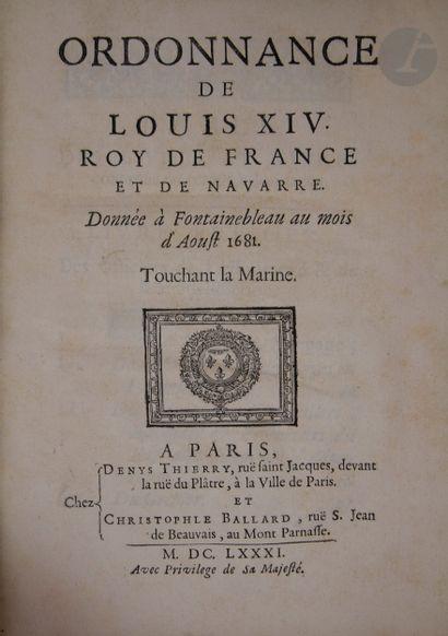 [MARINE]. Ordonnance de Louis XIV roy de...