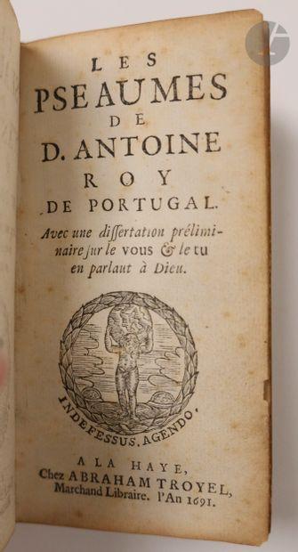 ANTOINE I (Roi du Portugal). Les Pseaumes de D. Antoine roy de Portugal. Avec une...