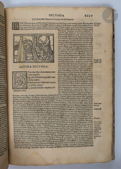 PERSE. Avli Flacci Persii Satyrographi clarissimi opus emendatum. Venise : Bernardino...