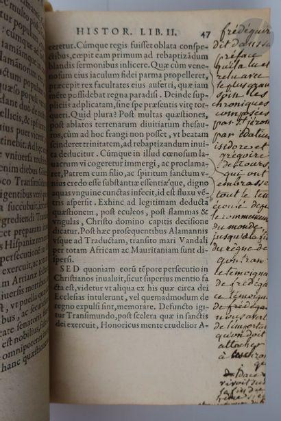 GRÉGOIRE DE TOURS - ADON (Saint). Historiæ francorum libri decem… Adonis Viennensis...