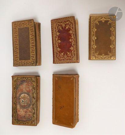 [ALMANACHS]. Ensemble de 5 almanachs : -...