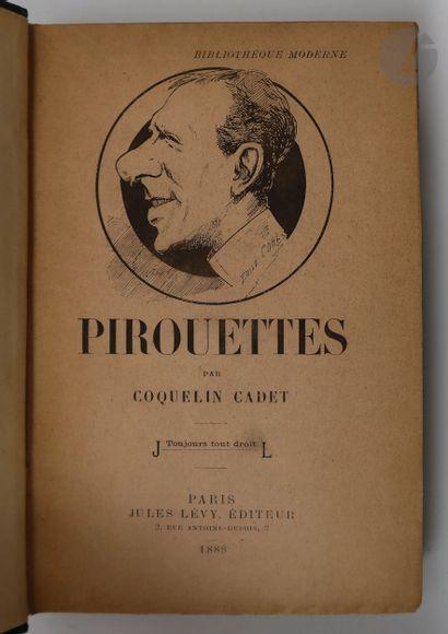 COQUELIN (Ernest). Pirouettes. Dessin de...