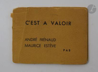 FRÉNAUD (André) - ESTÈVE (Maurice). C'est...