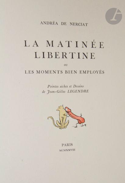 NERCIAT (Andréa de). La Matinée libertine...