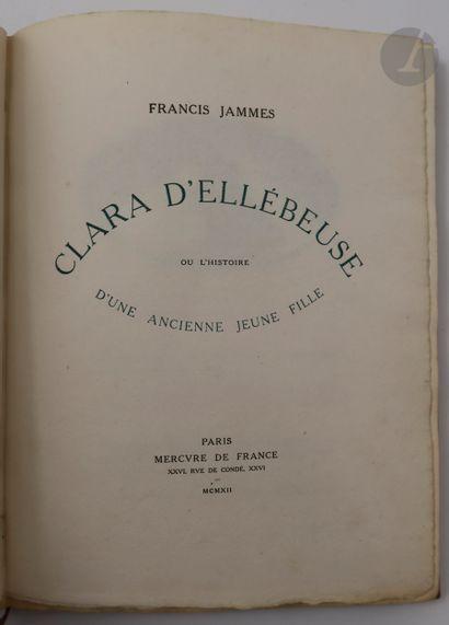 JAMMES (Francis) - BONFILS (Robert). Clara...