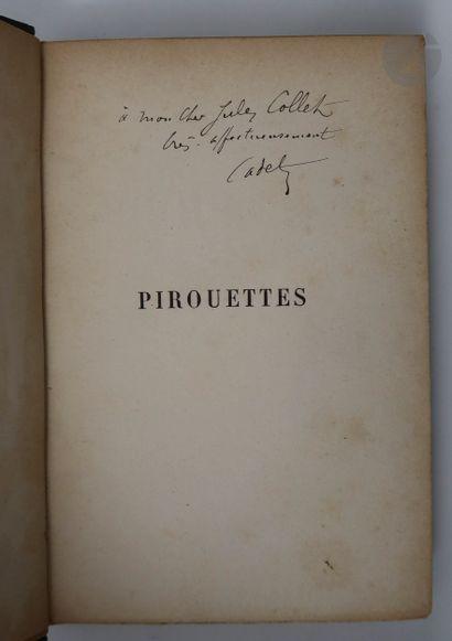 COQUELIN (Ernest). Pirouettes. Dessin de : H. Pille, Le Mouel, Friand, Mesplès,...