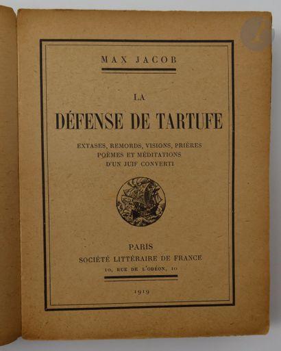 JACOB (Max). La Défense de Tartuffe. Extases,...