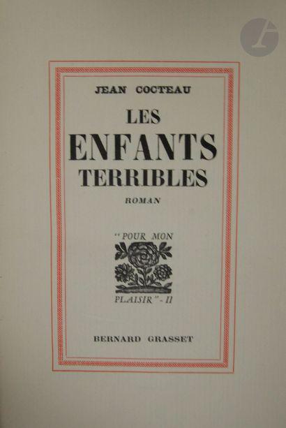 COCTEAU (Jean). Les Enfants terribles. Roman....