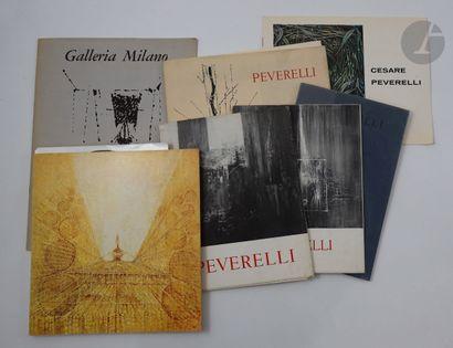 [PEVERELLI (Cesare)]. Ensemble de 7 catalogues...