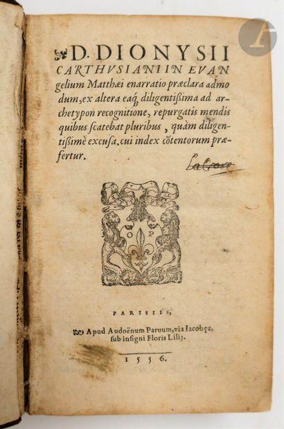 DENIS LE CHARTREUX. In Evangelium Matthæi [et Joannis] enarratio præclara admodum,...