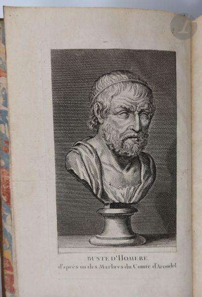 HOMÈRE. L'Iliade [L'Odyssée] d'Homère, traduction nouvelle, Précédée de Réflexions...