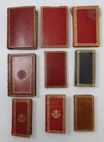 [ALMANACHS]. Ensemble de 9 almanachs du XIXe...