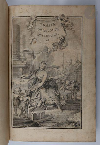 LA RUE (Jean-Baptiste de). Traité de la coupe des pierres, ou méthode facile & abregée,...