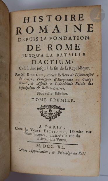 ROLLIN (Charles) - CREVIER (Jean-Baptiste-Louis). Histoire romaine depuis la fondation...