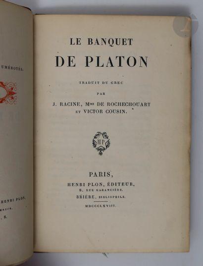 PLATON. Le Banquet de Platon traduit du grec...