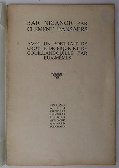 PANSAERS (Clément). Bar Nicanor. Avec un...