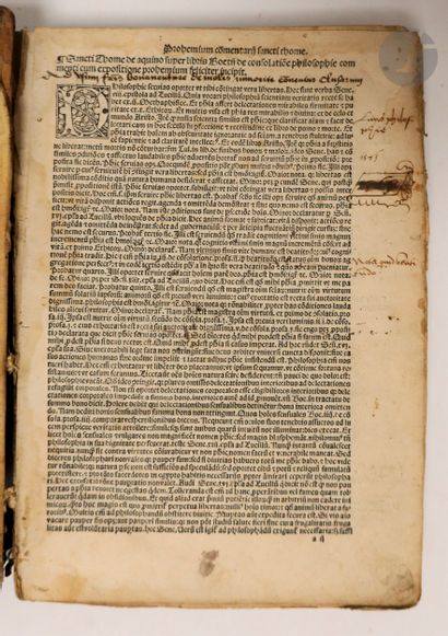 BOECE - THOMAS D'AQUIN (Saint). Duplex commentatio ex integro reposita atque recognita...