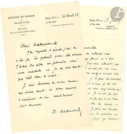 Octave MONOD (1877-1934) médecin de la Fondation...