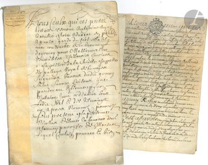 BERRY. 8 pièces, dont 3 sur vélin, 1612-1798....
