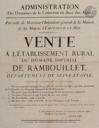AFFICHES. 23 affiches, 1791-1854, la plupart...