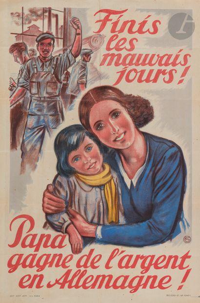 AFFICHES. 10 affiches, 1943-1969, impr. de...