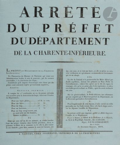 AGRICULTURE, CHASSE et FORÊTS. 9 affiches,...