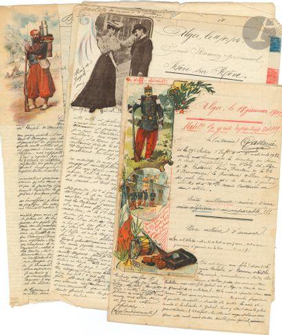 algérie. 19 L.A.S. ou manuscrits autographes,...